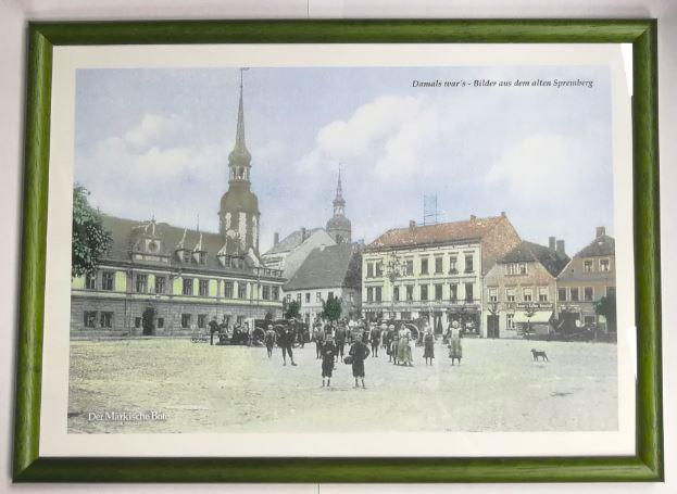 Edler Holzrahmen, 31,5 x 22,5 cm, grün